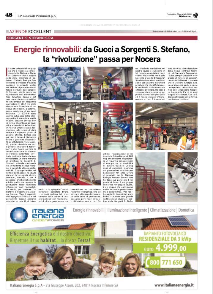28 Gennaio 2018 – Il Mattino
