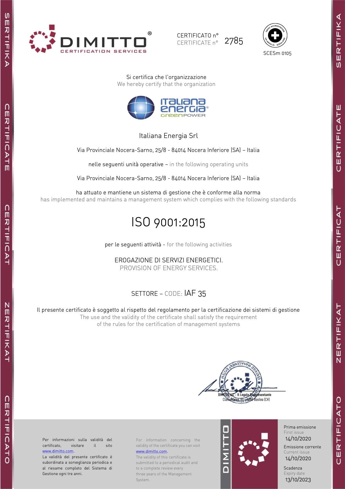 AG Certificato_2785 – Italiana Energia – 35